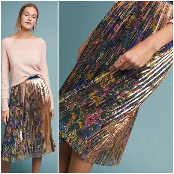 aa4dbd3d03 Anthropologie Skirts | Nwt Printed Pleated Skirt By Maeve | Poshmark